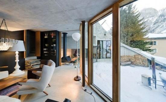 スイス山あいの村ヴァルスにあるVILLA VALS11