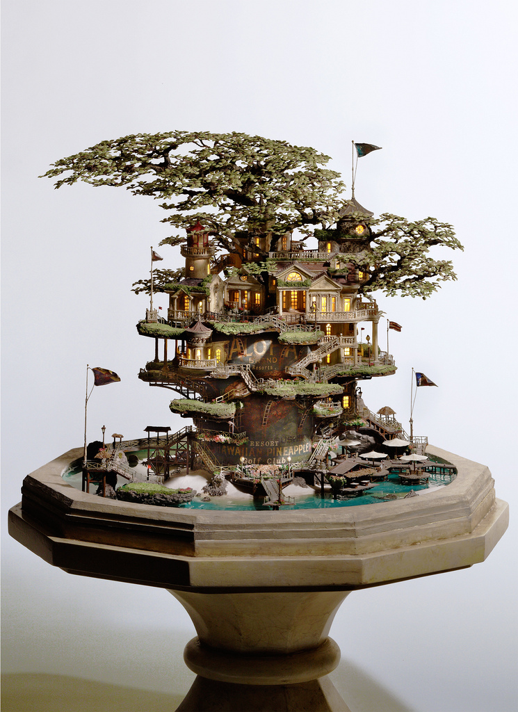 相羽高徳氏(TAKANORI AIBA)によるミニチュア盆栽ツリーハウス14