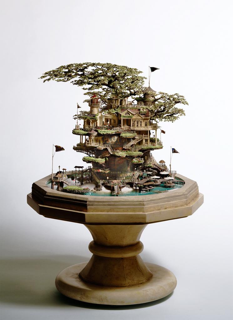 相羽高徳氏(TAKANORI AIBA)によるミニチュア盆栽ツリーハウス13