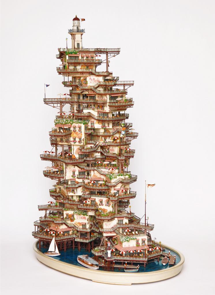 相羽高徳氏(TAKANORI AIBA)によるミニチュア盆栽ツリーハウス10