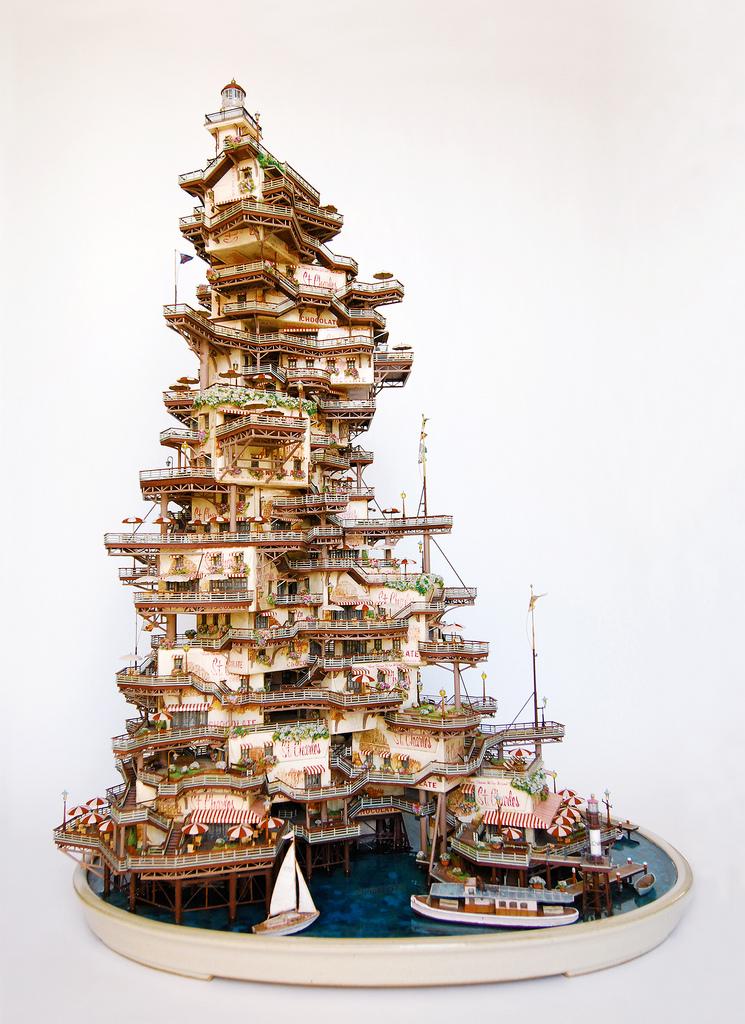 相羽高徳氏(TAKANORI AIBA)によるミニチュア盆栽ツリーハウス6