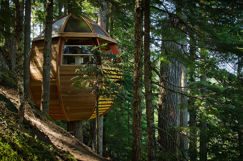 カナダウィスラーにる秘密のツリーハウス「The HemLoft」3
