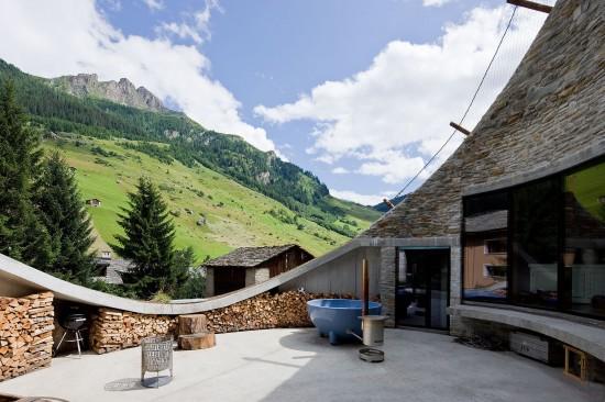 スイス山あいの村ヴァルスにあるVILLA VALS66