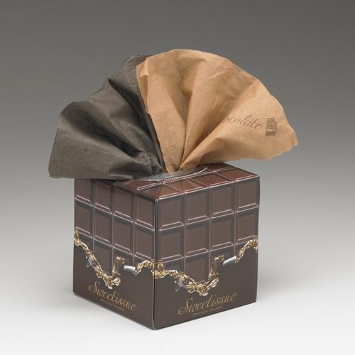 チョコレートの香りがするティッシュ