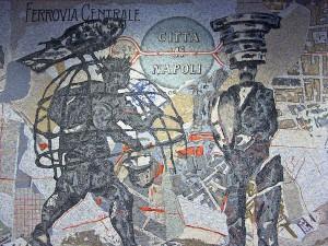 イタリアのナポリにある地下鉄トレドの美しいモザイク画10