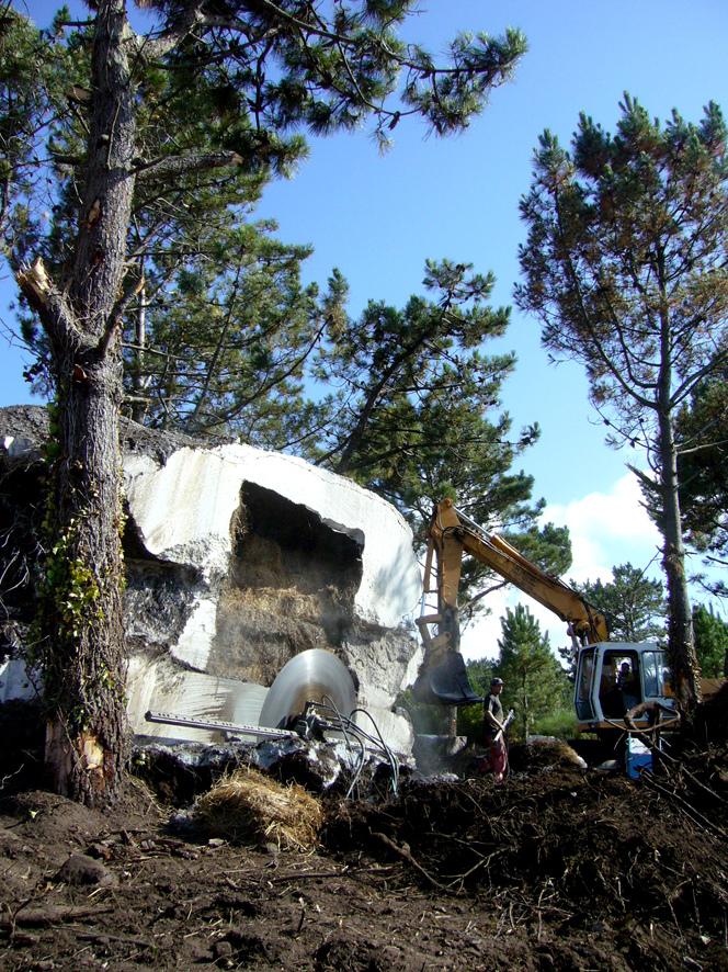 土の中から発掘されたトリュフのようにつくられた、原始人が住んでいそうな住宅12