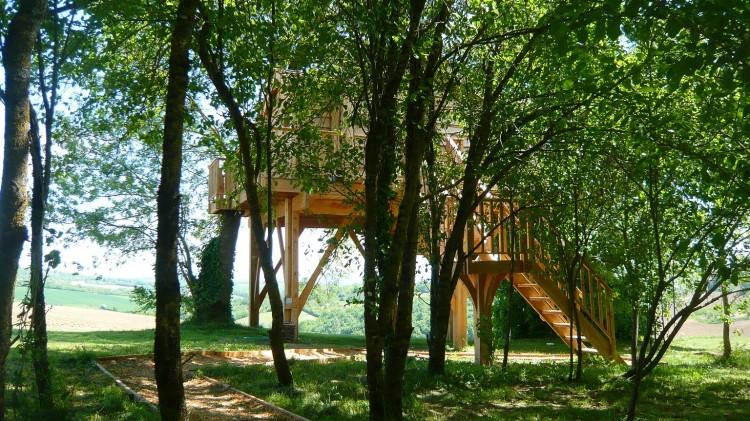 トムソーヤが住んでいそうなツリーハウス1