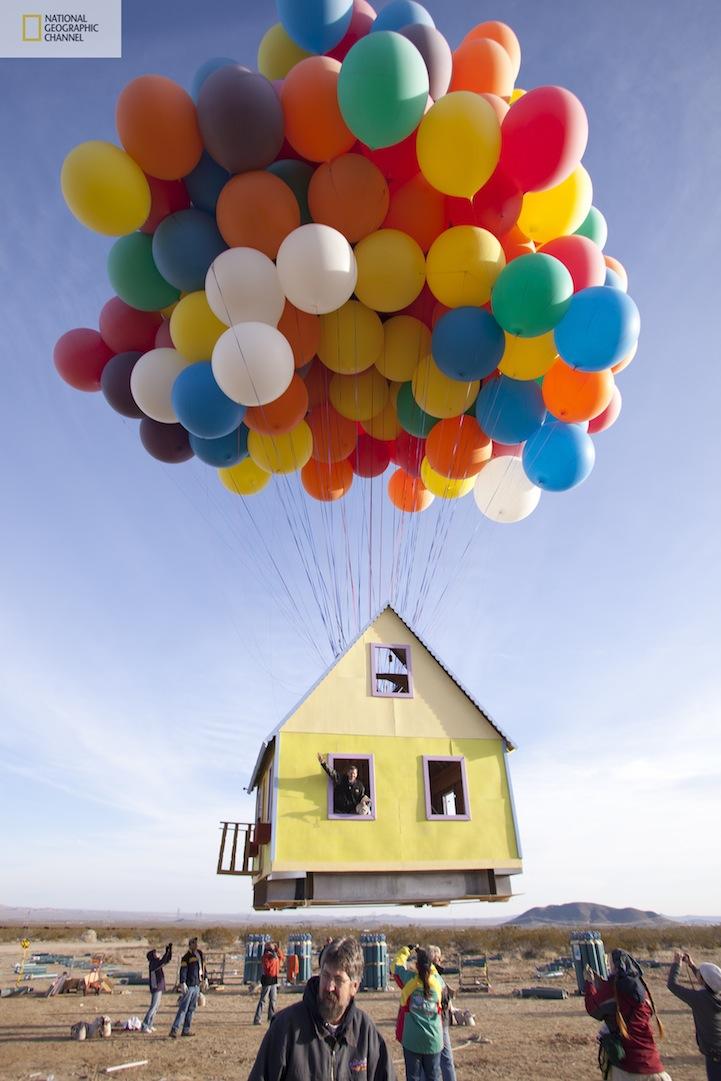 本物のカールじいさんの空飛ぶ家9