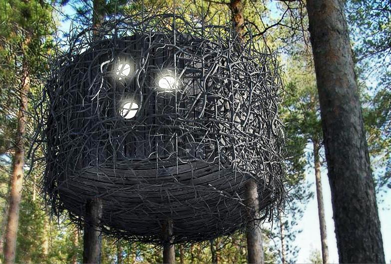 treehotel-the-birds-nest 鳥の巣のようなツリーホテル 5