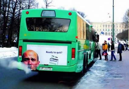 【世界の広告】バスを利用した広告11