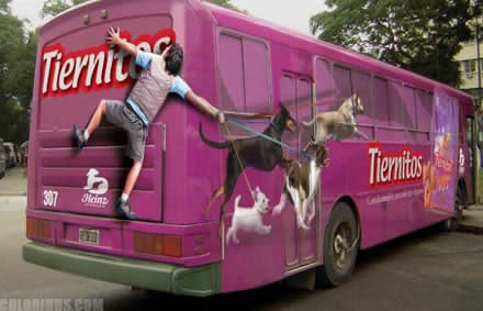 【世界の広告】バスを利用した広告14