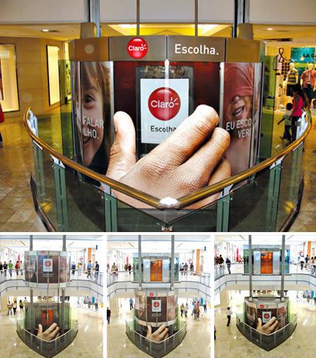 エレベーターを使った広告10