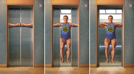エレベーターを使った広告4