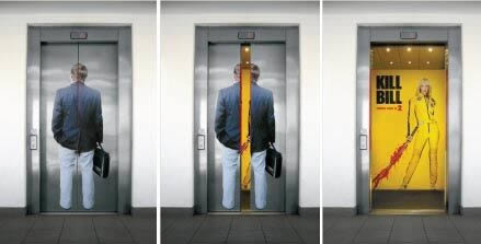 エレベーターを使った広告6