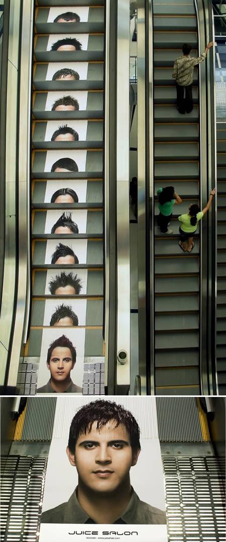エレベーターを使ったユニークな広告1