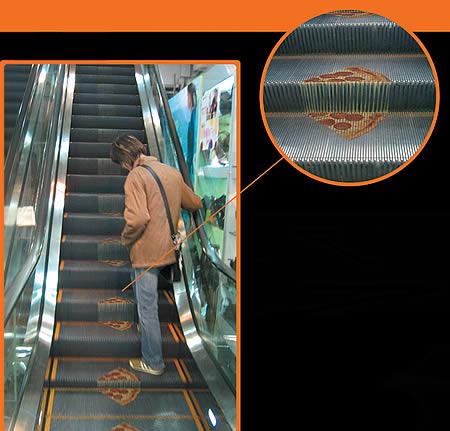 エレベーターを使ったユニークな広告10