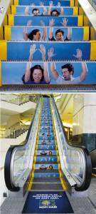 エスカレーターを使ったユニークな広告3
