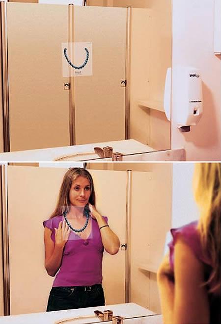あっと驚くトイレの中の広告7