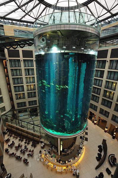ホテル内の巨大なアクアリウム6
