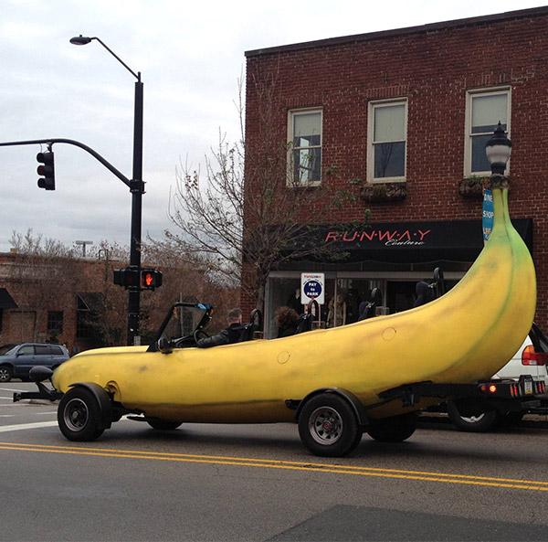 マリオカートに出てきそうな車バナナカート6