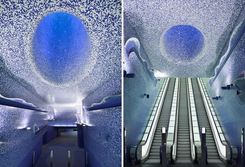イタリアのナポリにある地下鉄トレドの美しいモザイク画6
