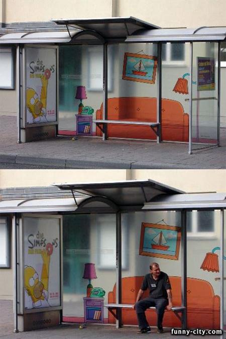 世界のかわったバスの停留所3