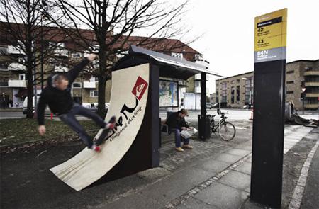 世界のかわったバスの停留所7
