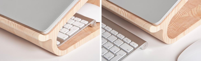 MacBookAirやMacBook Proに最適な木製のラップトップ11