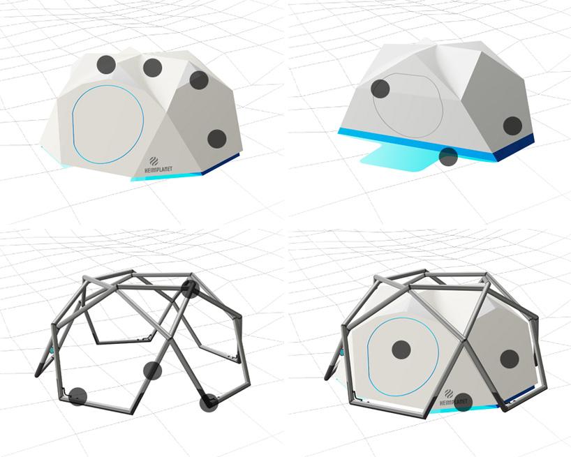 たった1分で設置できるキャンプ用テントHeimplanetの「The Cave」21