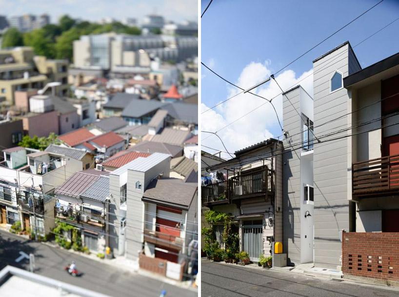 東京都、根津の狭小住宅「大きなすきまのある生活」2