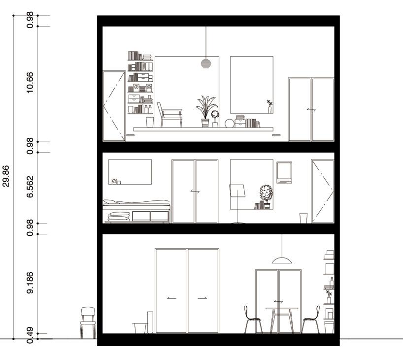 東京都、根津の狭小住宅「大きなすきまのある生活」16