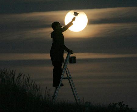 芸術的な月の写真1