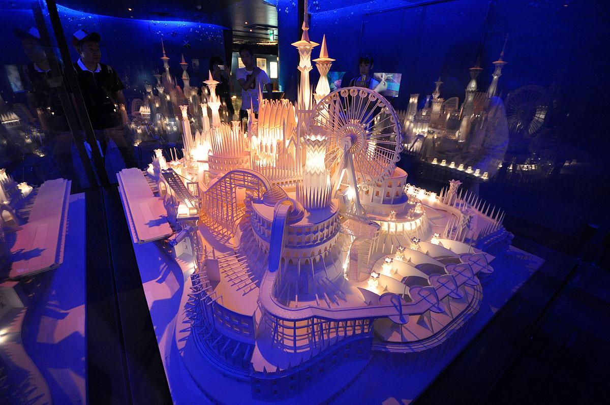 ペーパークラフト「海の上のお城」