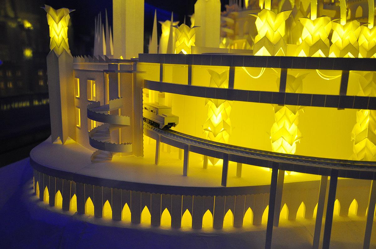 ペーパークラフト「海の上のお城」4
