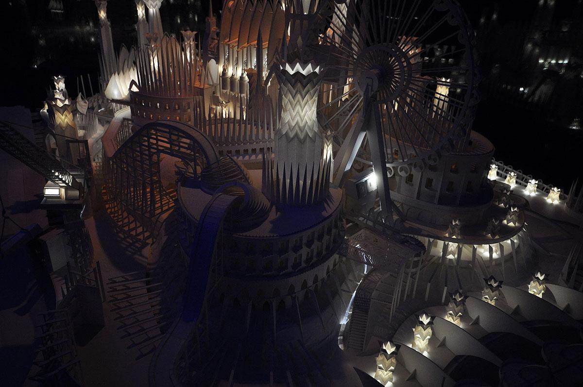 ペーパークラフト「海の上のお城」5