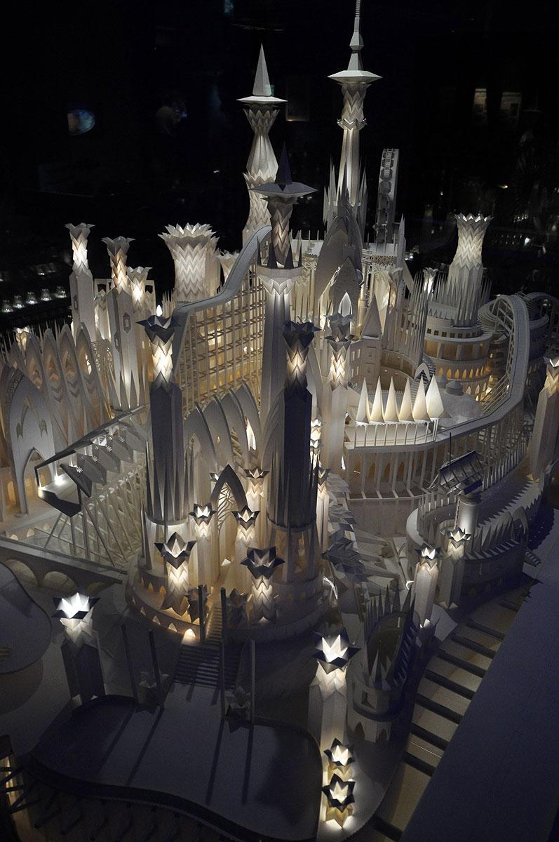 ペーパークラフト「海の上のお城」7