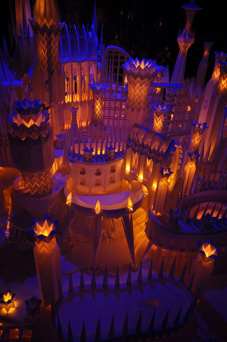 ペーパークラフト「海の上のお城」8