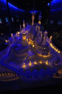 ペーパークラフト「海の上のお城」9