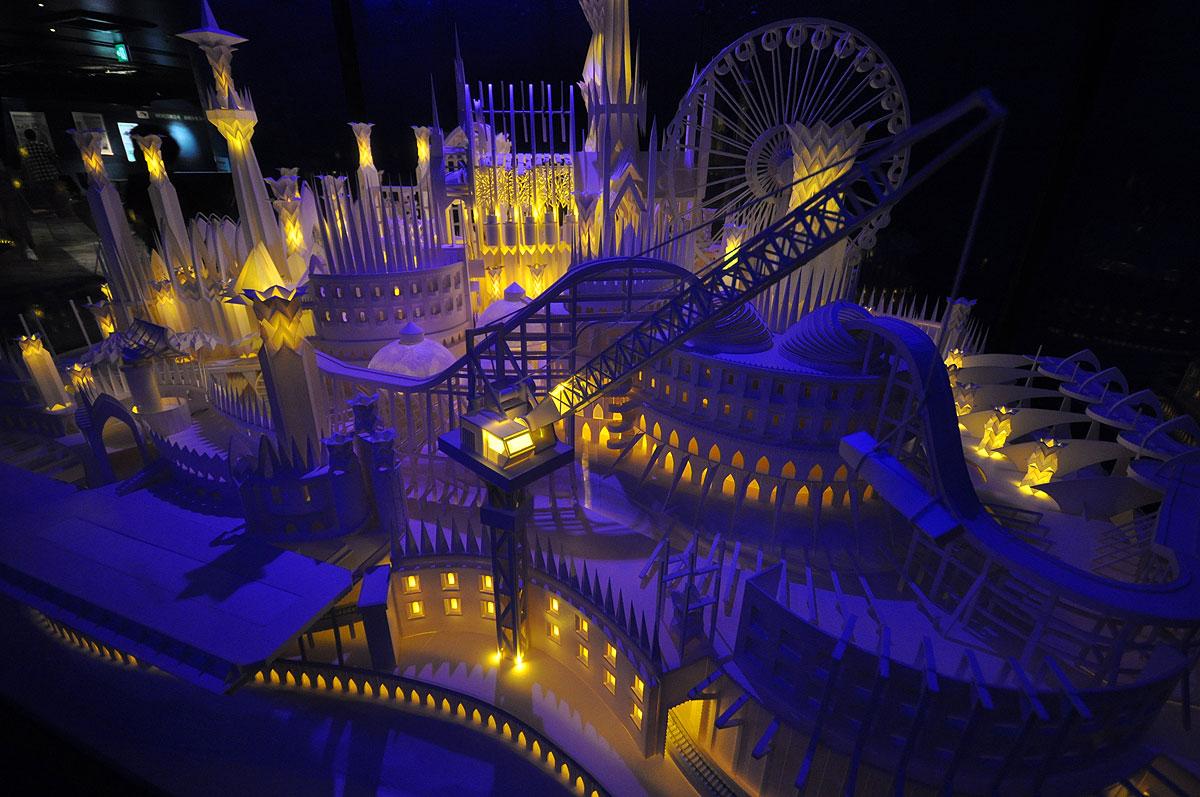 ペーパークラフト「海の上のお城」10