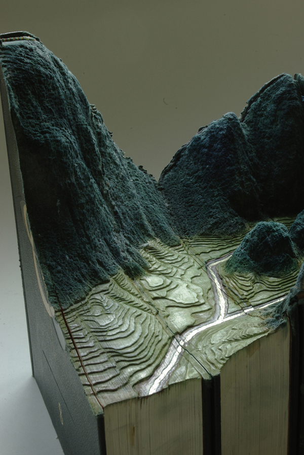 Carved Book Landscapes by Guy Laramee34