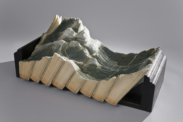 Carved Book Landscapes by Guy Laramee29