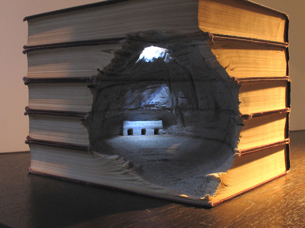 Carved Book Landscapes by Guy Laramee16