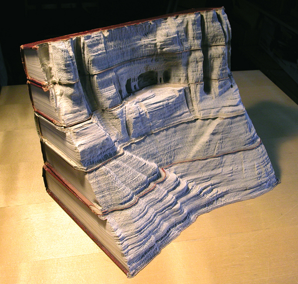 Carved Book Landscapes by Guy Laramee31