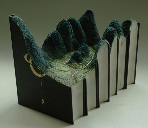 Carved Book Landscapes by Guy Laramee33