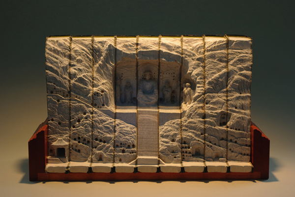 Carved Book Landscapes by Guy Laramee24