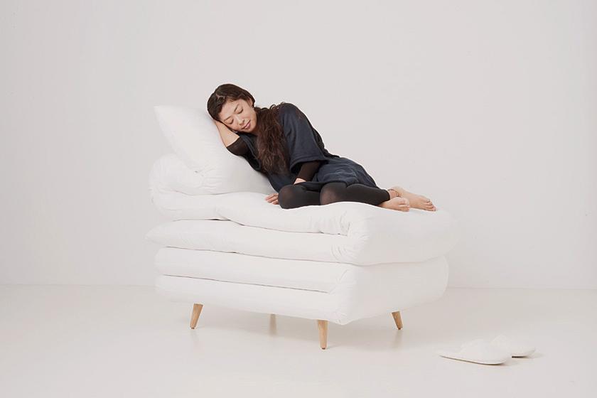 ふとんみたいな椅子。Sleepy chair2