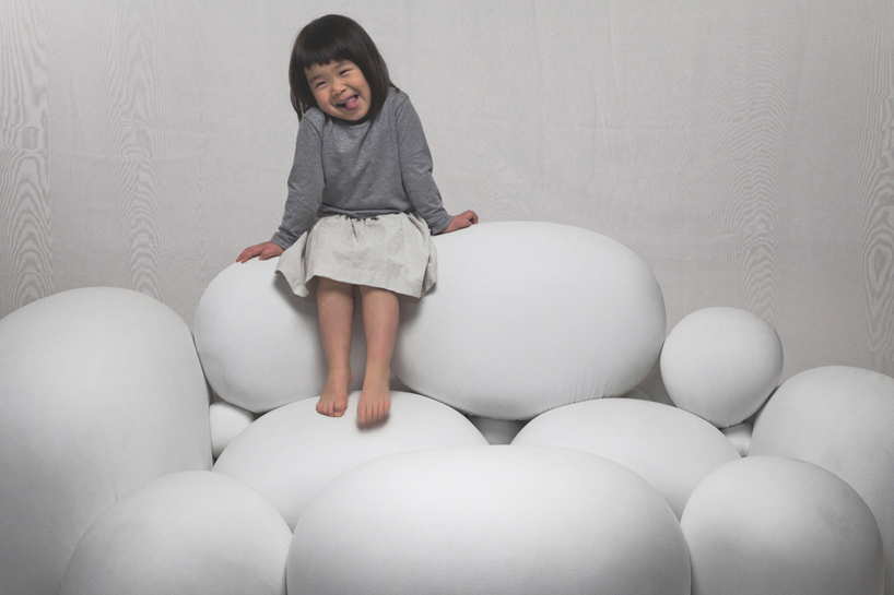 marshmallow-like sofa by kei harada
