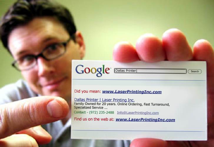 Laser Printing Inc. business card