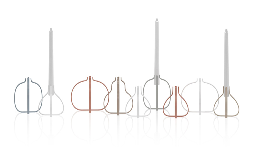fruit-shaped candle stands