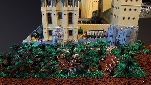 レゴで出来たハリーポッターのホグワーツ城3